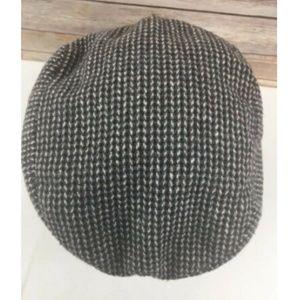 Vtg Glenbrook Cabbie Hat Newsboy Leather Band Mens